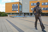 Statue of Alan Turing, mathematician, who was instrumental in breaking the Enigma Code during WWII, Univeristy of Surrey.