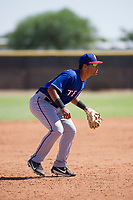 Texas Rangers third baseman Tyler Ratliff (32) during an Instructional League game against the San Diego Padres on September 20, 2017 at Peoria Sports Complex in Peoria, Arizona. (Zachary Lucy/Four Seam Images)