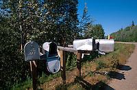 USA, Alaska, Briefkästen bei Fairbanks