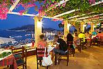Greece, Ionian Islands, Zakynthos, Zakynthos Town: Restaurant on Bochali Hill overlooking Zakynthos Town | Griechenland, Ionische Inseln, Zakynthos, Zakynthos-Stadt: Restaurant auf dem Bochali Hill oberhalb Zakynthos-Stadt