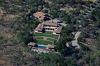 aerial photograph of a mountainside home, Napa County, California