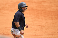 New York Yankees Jasson Dominguez (25) leads off third base during an Extended Spring Training game against the Detroit Tigers on June 19, 2021 at the Joker Marchant Stadium in Lakeland, Florida.  (Mike Janes/Four Seam Images)
