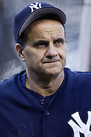 New York Yankees Manager Joe Torre before a 2002 MLB season game against the Los Angeles Angels at Angel Stadium, in Anaheim, California. (Larry Goren/Four Seam Images)