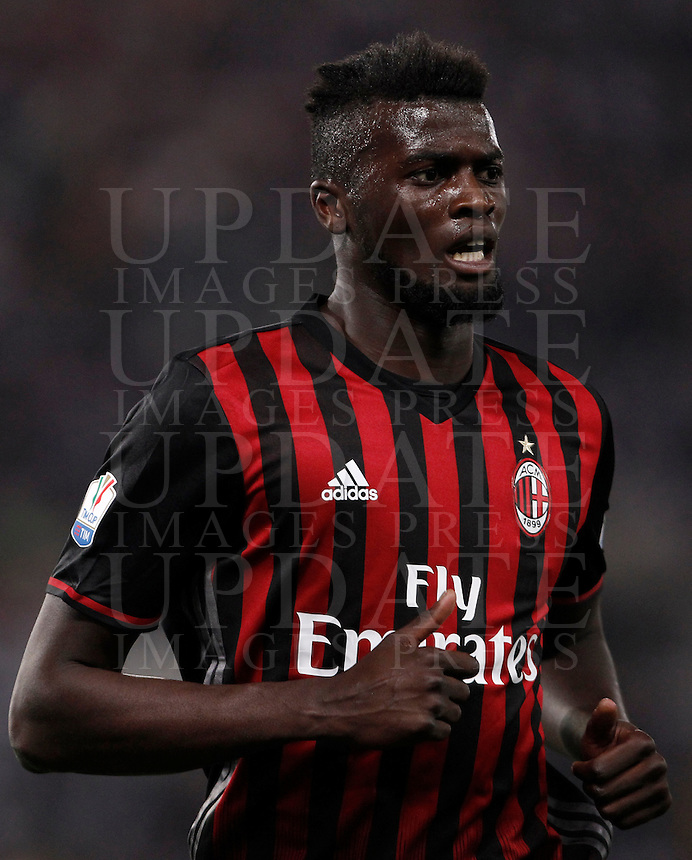 Calcio, finale Tim Cup: Milan vs Juventus. Roma, stadio Olimpico, 21 maggio 2016.<br /> AC Milan's M' Baye Niang runs during the Italian Cup final football match between AC Milan and Juventus at Rome's Olympic stadium, 21 May 2016.<br /> UPDATE IMAGES PRESS/Isabella Bonotto