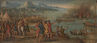 Full title: A Naval Battle<br /> Artist: Italian, Venetian<br /> Date made: about 1580<br /> Source: http://www.nationalgalleryimages.co.uk/<br /> Contact: picture.library@nationalgallery.co.uk<br /> <br /> Copyright © The National Gallery, London