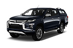 2020 Mitsubishi L200 Intense-Edition-One 4 Door Pick-up Angular Front automotive stock photos of front three quarter view