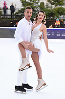 """Candice Brown and Matt Evers<br /> at the """"Dancing on Ice"""" launch photocall, natural History Museum, London<br /> <br /> <br /> ©Ash Knotek  D3365  19/12/2017"""