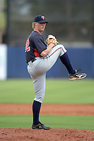 Minnesota Twins pitcher Sam Clay (82) during an Instructional League game against the Tampa Bay Rays on September 16, 2014 at Charlotte Sports Park in Port Charlotte, Florida.  (Mike Janes/Four Seam Images)