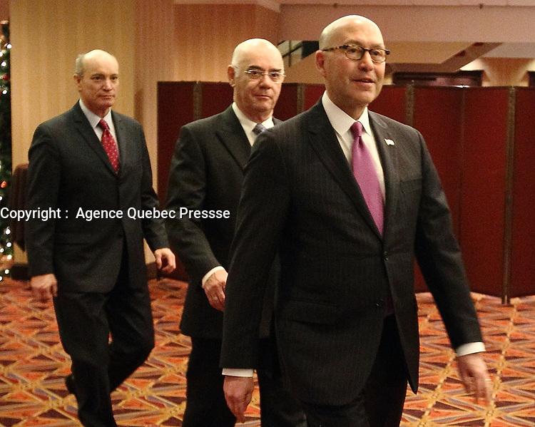 Dec 4, 2012 - Montreal, Quebec, CANADA - Donald Jacobson,United States of Americas Ambassador to Canada speak at the CORIM