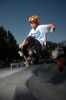 July 13 2009, Mission Beach, San Diego, CA:   Skateboarders at Campland on the Bay's new stakeboard park.