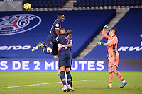 24th December 2020; Paris, France; French League 1 football, Paris St Germain versus Strasbourg; Goal celebrations from IDRISSA GUEYE PSG