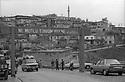 "Turkey 1987 .In the main street of Sirnak, the welcome sign ""Happy is he who calls himself a Turk"" .Turquie 1987.Dans la grande rue de Sirnak, la banderole d'accueil ""Heureux celui qui est Turc"""
