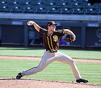 Reiss Knehr - San Diego Padres 2021 spring training (Bill Mitchell)
