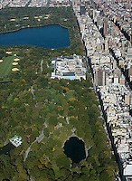 aerial photograph Central Park, Metropolitan Museum of Art, Manhattan, New York City