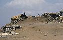 Iraq 1983 <br /> Bunkers of the Iraqi army in Haj Omran  <br /> Irak 1983 <br /> Abris des soldats irakiens a Haj Omran