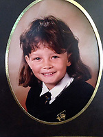 Pictured: Julie Barnett when she was about 9 years old<br /> Re: Julie Barnett has spoken about being sexually assaulted by lottery winner David Dyas in Wales, UK