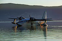 A Grumman HU-16, Albatross, N43155, spends the night on Clear Lake at the Seaplane Splash-In, Lakeport, Lake County, California