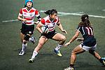 Noniko Taniguchi of Japan (c) competes against Hong Kong during the Womens Rugby World Cup 2017 Qualifier match between Hong Kong and Japan on December 17, 2016 in Hong Kong, Hong Kong. Photo by Marcio Rodrigo Machado / Power Sport Images