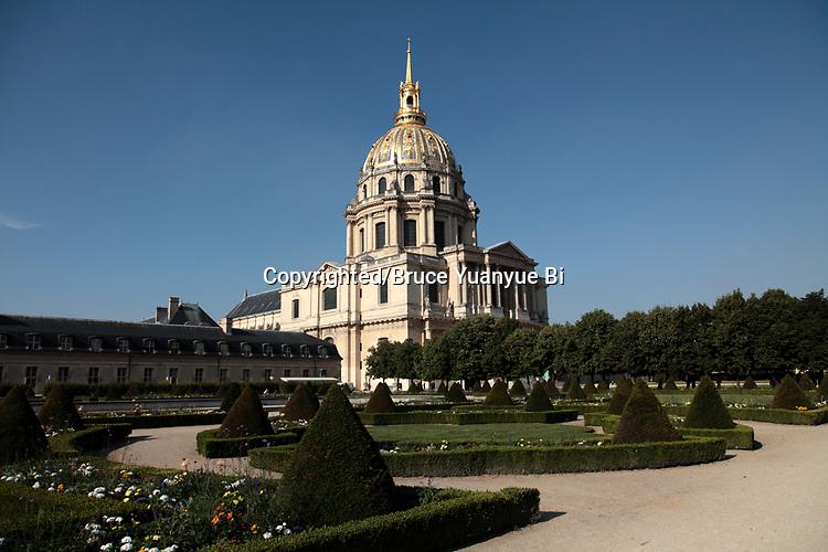 The dome church of Hotel les Invalides. Paris. city of Paris. France