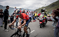 race leader Vincenzo Nibali (ITA/Bahrain-Merida) with 2km to go<br /> <br /> shortened stage 20: Albertville to Val Thorens (59km in stead of the original 130km due to landslides/bad weather)<br /> 106th Tour de France 2019 (2.UWT)<br /> <br /> ©kramon