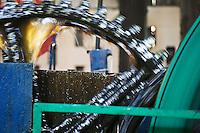 France/DOM/Martinique/ Macouba: Distillerie JM de l'Habitation Crassous de Médeuil à Fonds-Préville - - La Machine à vapeur qui entraine les  moulins - Rhum JM