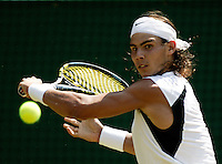 1-7-06,England, London, Wimbledon, fourth round match,  Rafael Nadal