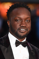 """Arnold Oceng<br /> at the London Film Festival premiere for """"A United Kingdom"""" at the Odeon Leicester Square, London.<br /> <br /> <br /> ©Ash Knotek  D3160  05/10/2016"""