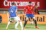 Spain's Alvaro Morata (r) and Liechtenstein's Daniel Kaufmann during FIFA World Cup 2018 Qualifying Round match. September 5,2016.(ALTERPHOTOS/Acero)