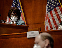 United States House Committee on Financial Services Chairperson,  US Representative Maxine Waters (Democrat of California) conducts todays hearing on Oversight of the Treasury Department and Fed Reserve Pandemic response in Washington, DC on June 30, 2020.<br /> Credit: Bill O'Leary/CNP/AdMedia