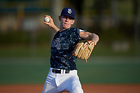Dylan Lesko (36) during the WWBA World Championship at the Roger Dean Complex on October 13, 2019 in Jupiter, Florida.  Dylan Lesko is a right-handed pitcher from Buford, Georgia who attends Buford High School.  (Mike Janes/Four Seam Images)