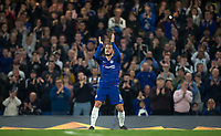 Eden HAZARD of Chelsea applauds the support during the UEFA Europa League match between Chelsea and Slavia Prague at Stamford Bridge, London, England on 18 April 2019. Photo by Andy Rowland / PRiME Media Images.<br /> .<br /> .<br /> Editorial use only, license required for commercial use. No use in betting,<br /> games or a single club/league/player publications.'