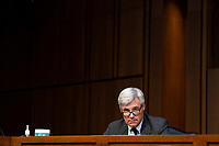 United States Senator Sheldon Whitehouse (Democrat of Rhode Island) speaks during a business meeting portion on the fourth day of the confirmation hearing for Judge Amy Coney Barrett, President Donald Trump's Nominee for Supreme Court, in Hart Senate Office Building in Washington DC, on October 15th, 2020.<br /> Credit: Anna Moneymaker / Pool via CNP /MediaPunch