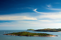 Rough Island, Mote of Mark, Rockcliffe during the Kippford Regatta, Dumfries and Galloway