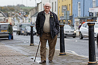 Pictured: Ron Davies in the High Street, Cowbridge, Wales, UK. Wednesday 06 November 2019<br /> Re: People in Cowbridge share their views after the Vale of Glamorgan MP Alun Cairns announced that he has resigned from his role as a Secretary for Wales.