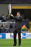 Luis Figo during the Uefa Nations League final football match between Spain and France at San Siro stadium in Milano (Italy), October 10th, 2021. Photo Andrea Staccioli / Insidefoto