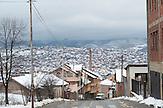 A street scene in Prishtina