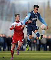 Football: Germany, 2. Bundesliga.Bobby Wood (1860 Muenchen, R).© pixathlon