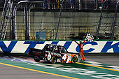 NASCAR Camping World Truck Series<br /> Buckle Up In Your Truck 225<br /> Kentucky Speedway, Sparta, KY USA<br /> Thursday 6 July 2017<br /> Christopher Bell, Toyota Toyota Tundra celebrates<br /> World Copyright: Barry Cantrell<br /> LAT Images