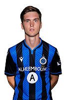 20th August 2020, Brugge, Belgium;  Noah Aelterman pictured during the team photo shoot of Club Brugge NXT prior the Proximus league football season 2020 - 2021 at the Belfius Base camp