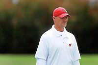 May 20, 2009; Tempe, AZ, USA; Arizona Cardinals head coach Ken Whisenhunt looks on during organized team activities at the Cardinals practice facility. Mandatory Credit: Mark J. Rebilas-