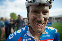 Jempy Drucker (LUX/Wanty-GroupeGobert) after his very first Paris-Roubaix where he finished 20th, 1 minute down from the winner<br /> <br /> Paris-Roubaix 2014