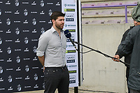 headcoach Dennis Moerman of Club Brugge  pictured during an interview with Eleven Sports a female soccer game between SV Zulte - Waregem and Club Brugge YLA on the fourth matchday of the 2021 - 2022 season of the Belgian Scooore Womens Super League , saturday 11 of September 2021  in Harelbeke , Belgium . PHOTO SPORTPIX | DIRK VUYLSTEKE