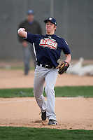 January 17, 2010:  Cannon Blake (Waycross, GA) of the Baseball Factory Southeast Team during the 2010 Under Armour Pre-Season All-America Tournament at Kino Sports Complex in Tucson, AZ.  Photo By Mike Janes/Four Seam Images