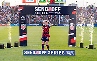 EAST HARTFORD, CT - JULY 5: Becky Sauerbrunn #4 of the USWNT waves to the crowd during a game between Mexico and USWNT at Rentschler Field on July 5, 2021 in East Hartford, Connecticut.