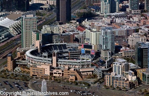 aerial photograph of Petco Park, San Diego, California