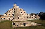 Edificio de los Cinco, Gran Acropolis, Edzna, Mexico, Central America, Edificio de los Cinco, Gran Acropolis, Edzna, Mexico, Central America