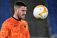 Jordan Veretout of AS Roma warms up during the Europa League round of 32 2nd leg football match between AS Roma and Sporting Braga at stadio Olimpico in Rome (Italy), February, 25th, 2021. Photo Andrea Staccioli / Insidefoto