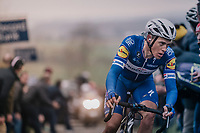 Niki Terpstra (NED/Quick-Step Floors) solo's up the Paterberg<br /> <br /> 61th E3 Harelbeke (1.UWT)<br /> Harelbeke - Harelbeke (206km)
