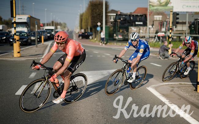 Greg VAN AVERMAET (BEL/CCC) turning in the last 5km ahead of Zdenek Stybar (CZE/Deceuninck-Quick Step)<br /> <br /> 62nd E3 BinckBank Classic (Harelbeke) 2019 <br /> One day race (1.UWT) from Harelbeke to Harelbeke (204km)<br /> <br /> ©kramon