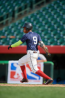 Alberto Fabian (9) during the Dominican Prospect League Elite Underclass International Series, powered by Baseball Factory, on August 31, 2017 at Silver Cross Field in Joliet, Illinois.  (Mike Janes/Four Seam Images)